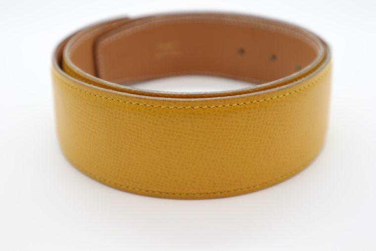 Hermès Gürtel Wendegürtel gelb beige-14690