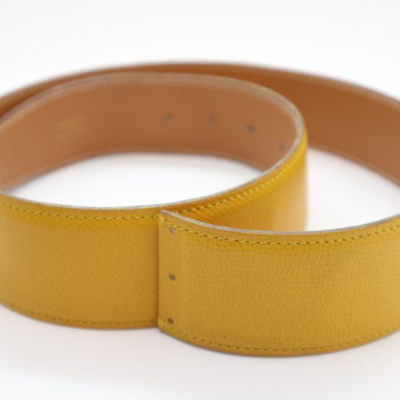 Hermès Gürtel Wendegürtel gelb beige