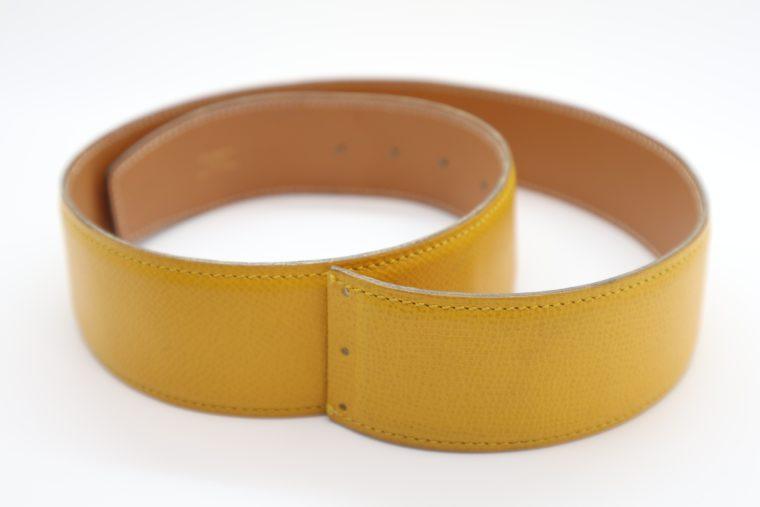 Hermès Gürtel Wendegürtel gelb beige-0