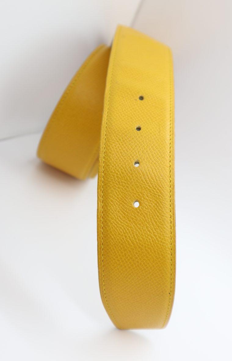 Hermès Gürtel Wendegürtel gelb beige-14689