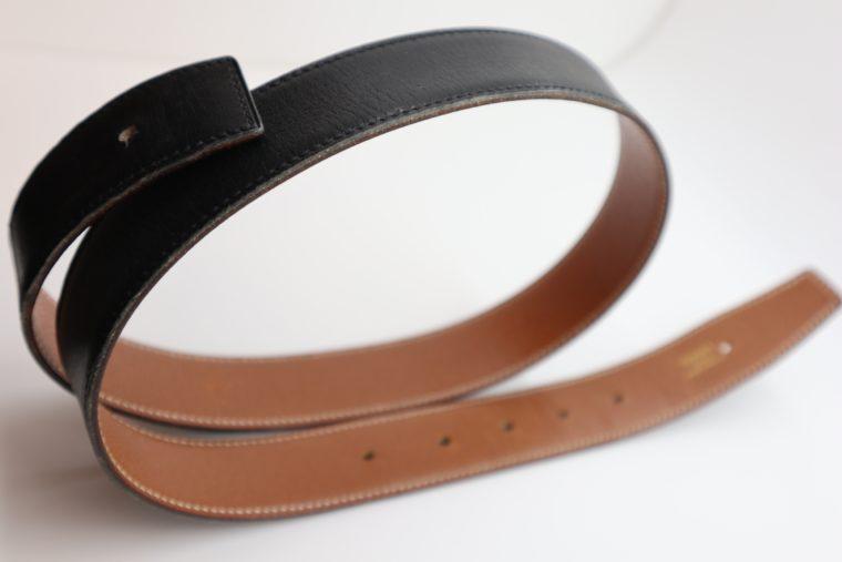 Hermès Gürtel Wendegürtel blau beige-0