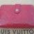 Louis Vuitton Geldbörse pink Viennois Gedbörse