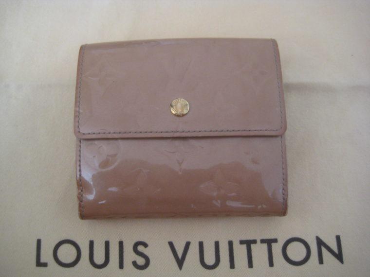 Louis Vuitton Geldbörse Elise Vernisleder beige-0