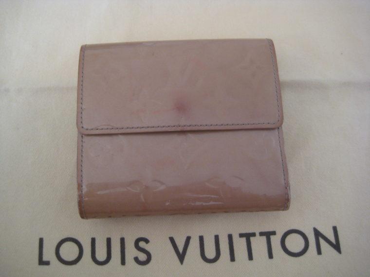 Louis Vuitton Geldbörse Elise Vernisleder beige-309