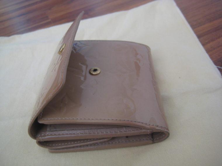 Louis Vuitton Geldbörse Elise Vernisleder beige-311