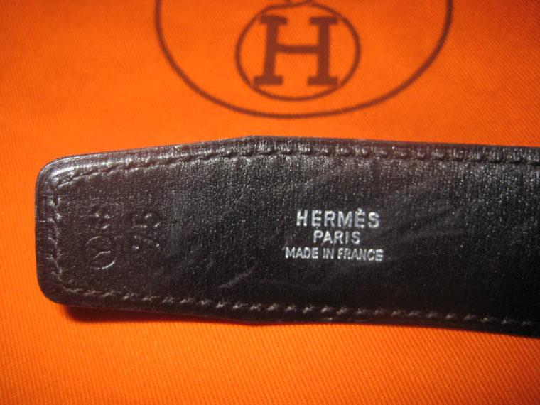 Hermès Gürtel Wendegürtel blau -1416