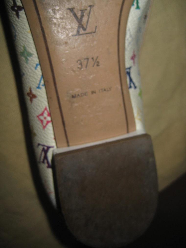 Louis Vuitton Ballerinas 37 1/2 Multicolor weiß-1459