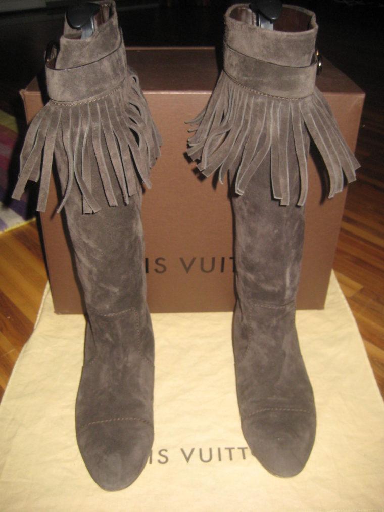 Louis Vuitton Stiefel braun 39 Leder-0