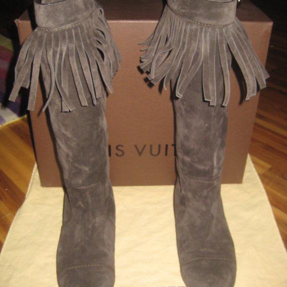 Louis Vuitton Stiefel braun 39 Leder