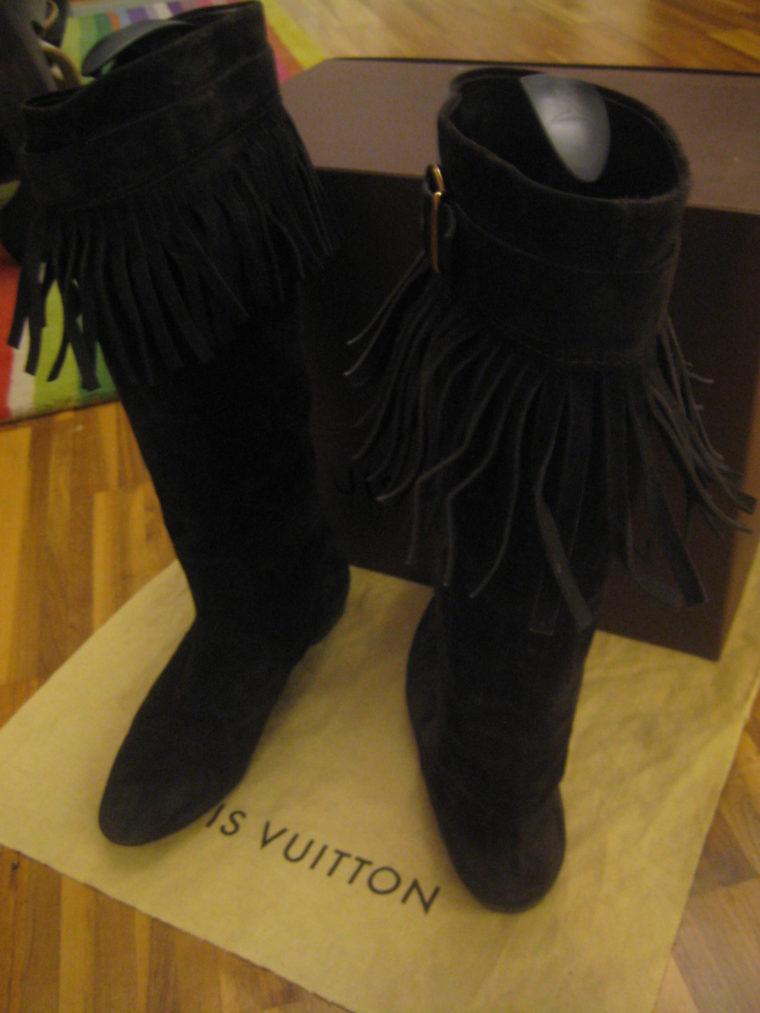 Louis Vuitton Stiefel braun 39 Leder-1497