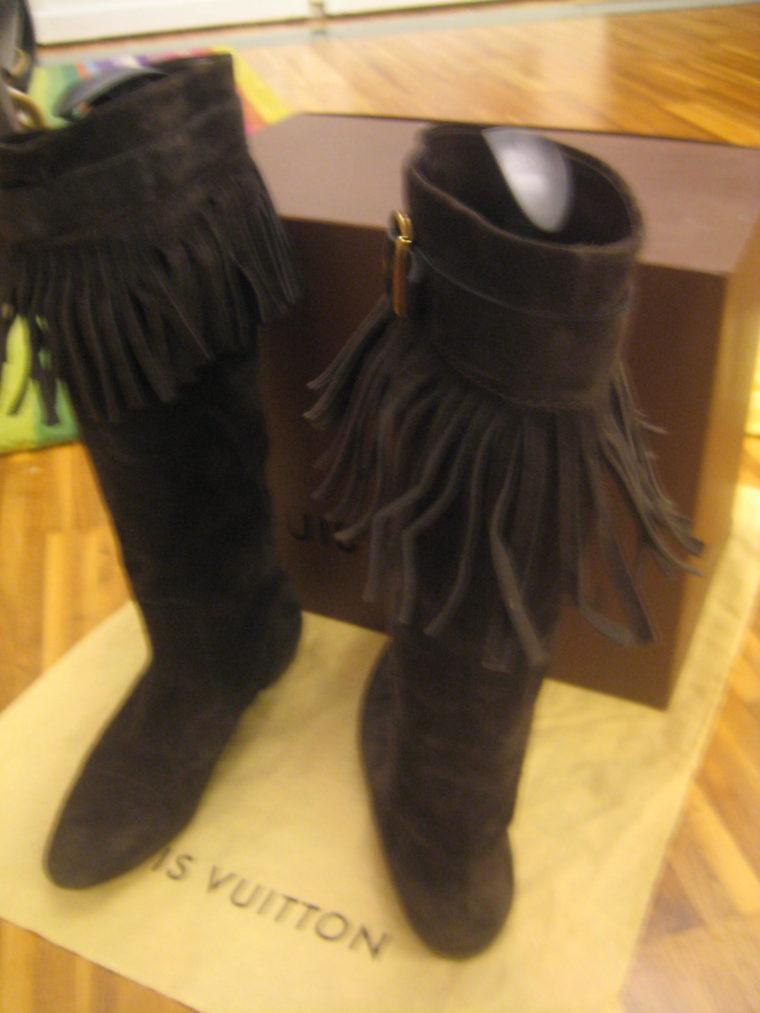 Louis Vuitton Stiefel braun 39 Leder-1494