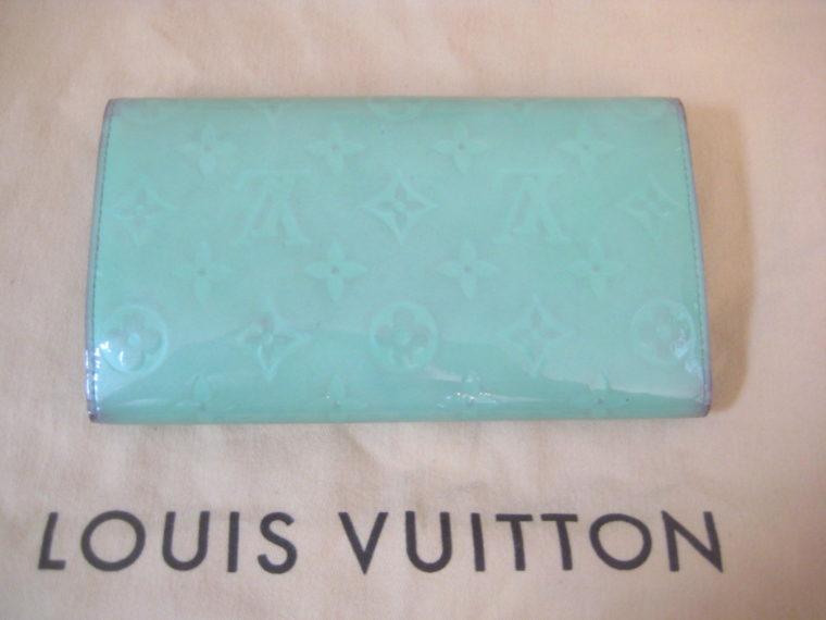 Louis Vuitton Geldbörse International Vernis Leder türkis -688