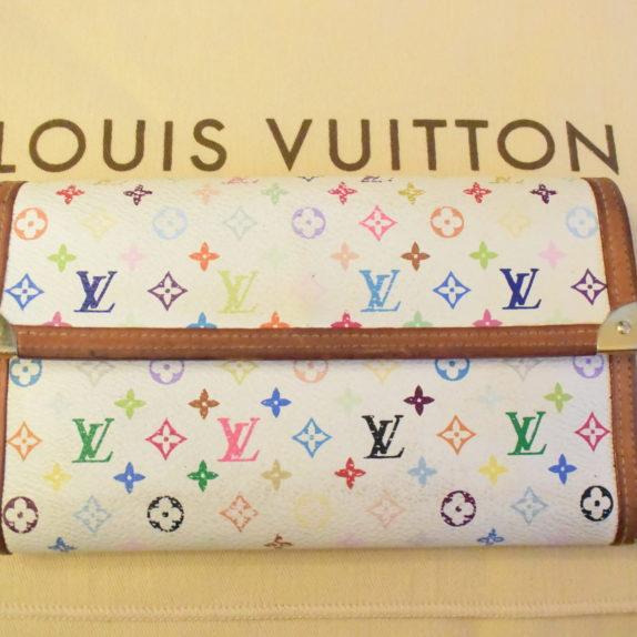 Louis Vuitton Geldbörse International MC weiß
