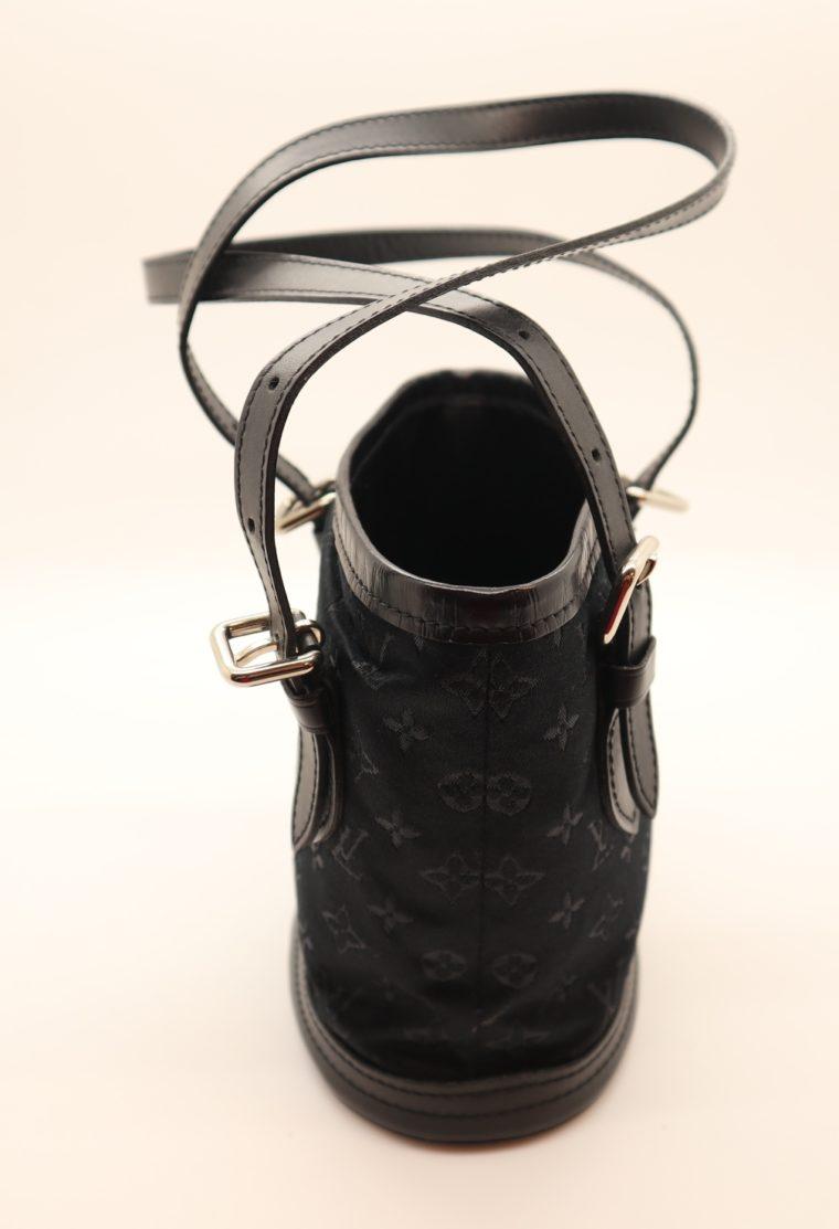 Louis Vuitton Tasche Bucket Satin schwarz-14154