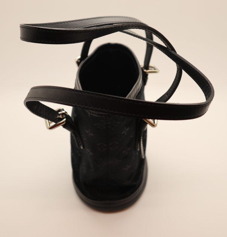 Louis Vuitton Tasche Bucket Satin schwarz-14156