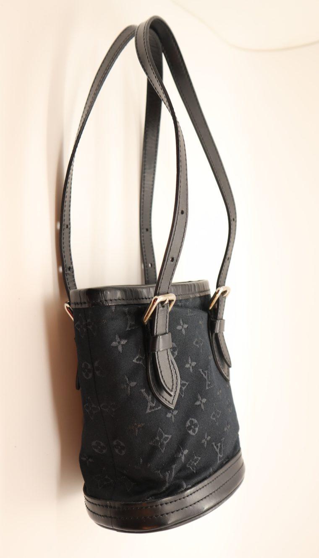 Louis Vuitton Tasche Bucket Satin schwarz-14157