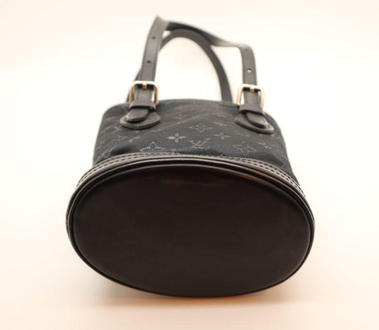 Louis Vuitton Tasche Bucket Satin schwarz-14155
