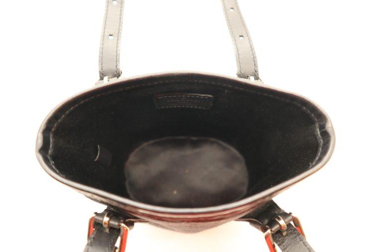 Louis Vuitton Tasche Bucket Satin schwarz-14158
