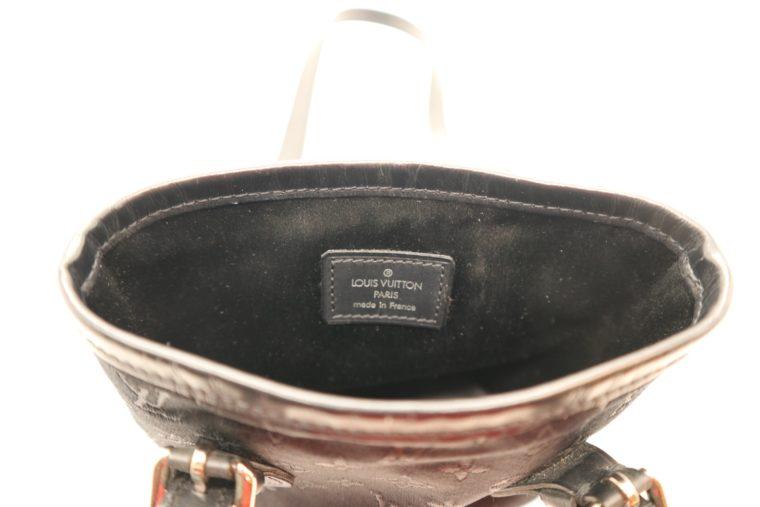 Louis Vuitton Tasche Bucket Satin schwarz-14160