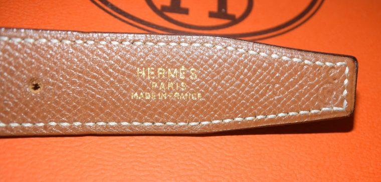 Hermès Gürtel Wendegürtel schwarz beige-4023