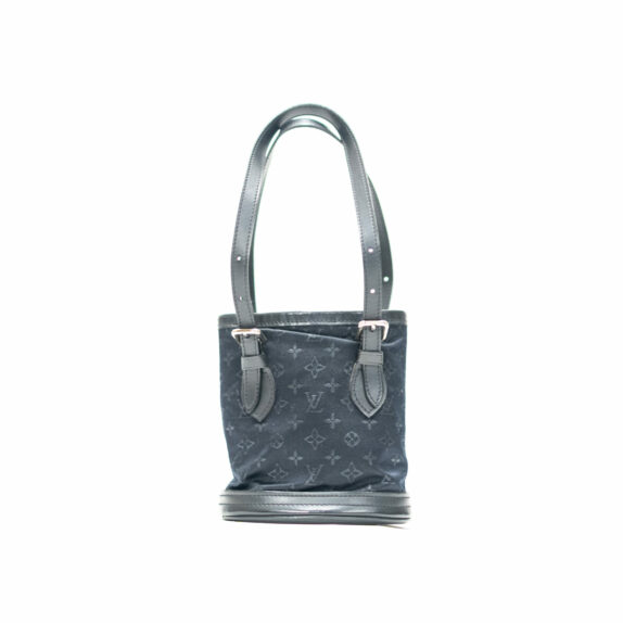 Louis Vuitton Tasche Bucket Satin schwarz