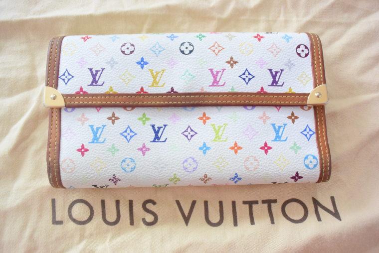 Louis Vuitton Geldbörse Multicolor weiß-0