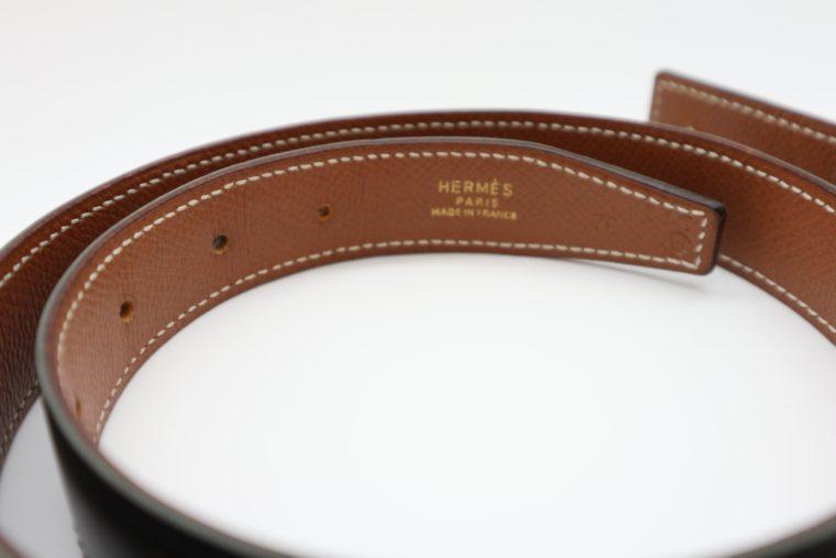 Hermès Gürtel Wendegürtel schwarz beige-14701