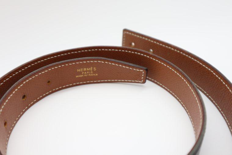 Hermès Gürtel Wendegürtel schwarz beige-14703