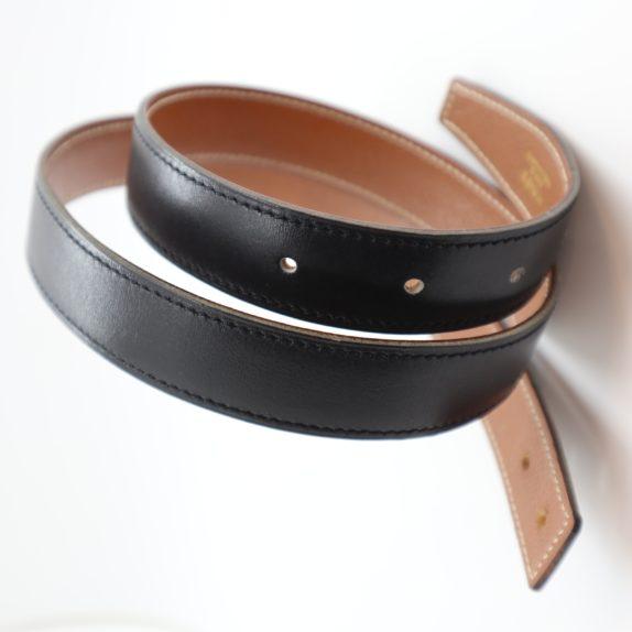 Hermès Gürtel Wendegürtel schwarz beige
