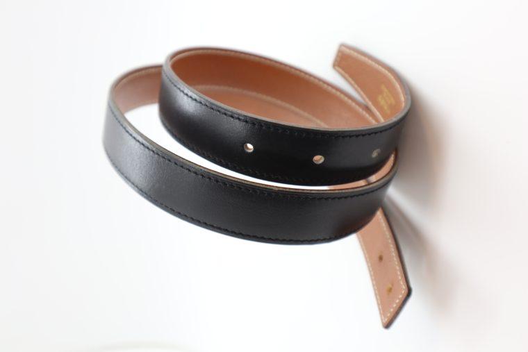 Hermès Gürtel Wendegürtel schwarz beige-0