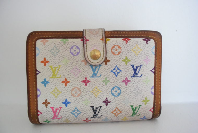 Louis Vuitton Geldbörse Portemonnaie Viennois Multicolor weiß-0