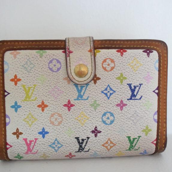 Louis Vuitton Geldbörse Portemonnaie Viennois Multicolor weiß
