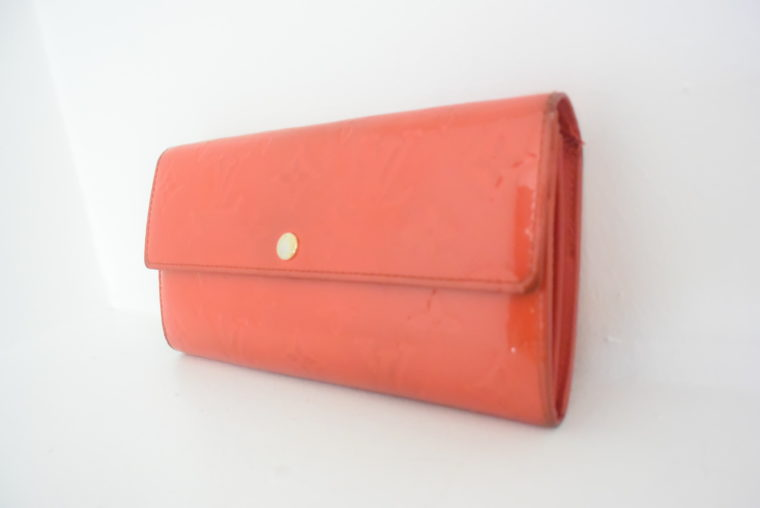 Louis Vuitton Geldbörse Sarah Vernis Leder rot-6069