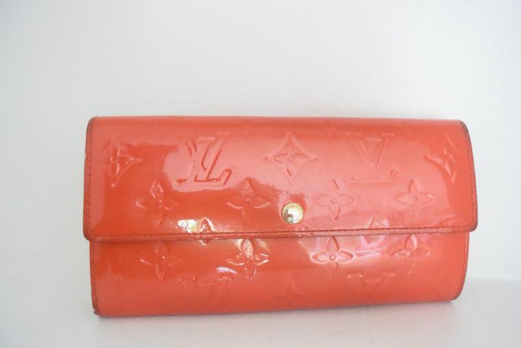 Louis Vuitton Geldbörse Sarah Vernis Leder rot-6072