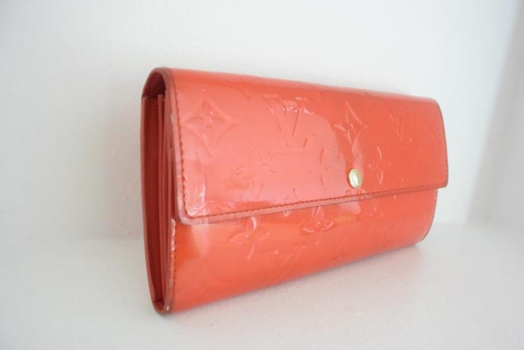 Louis Vuitton Geldbörse Sarah Vernis Leder rot-6068