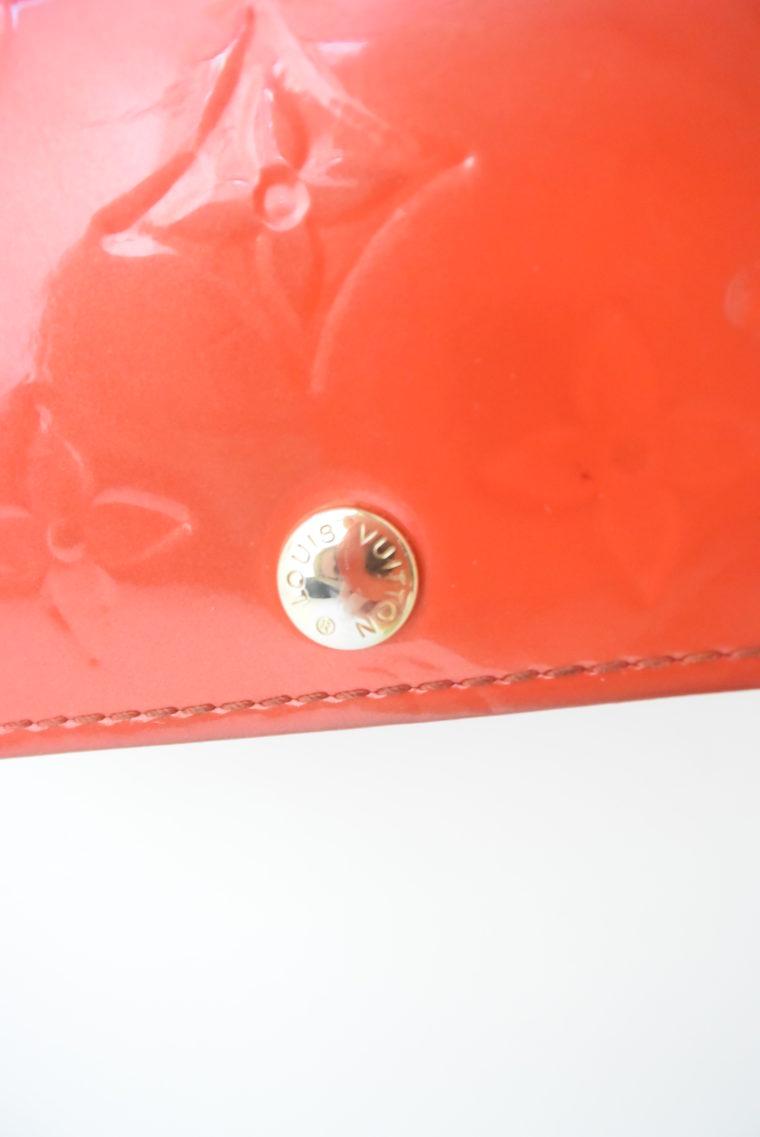 Louis Vuitton Geldbörse Sarah Vernis Leder rot-6073