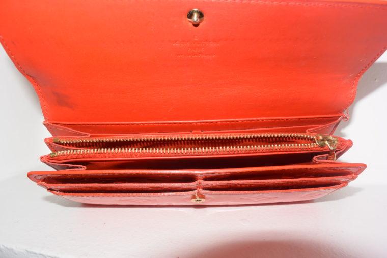 Louis Vuitton Geldbörse Sarah Vernis Leder rot-6076