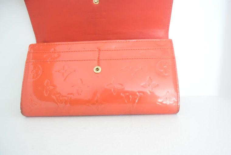 Louis Vuitton Geldbörse Sarah Vernis Leder rot-6074