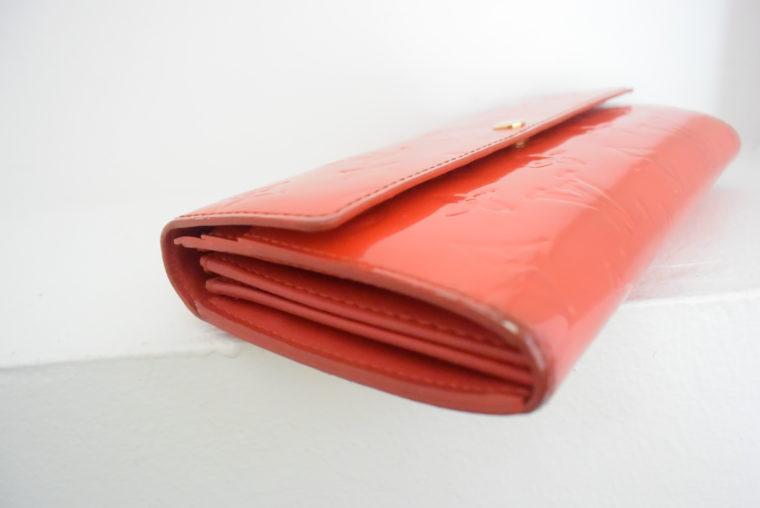 Louis Vuitton Geldbörse Sarah Vernis Leder rot-6080