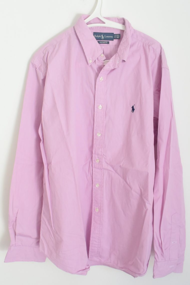 Ralph Lauren Herrenhemd zartrosa XXL-6682
