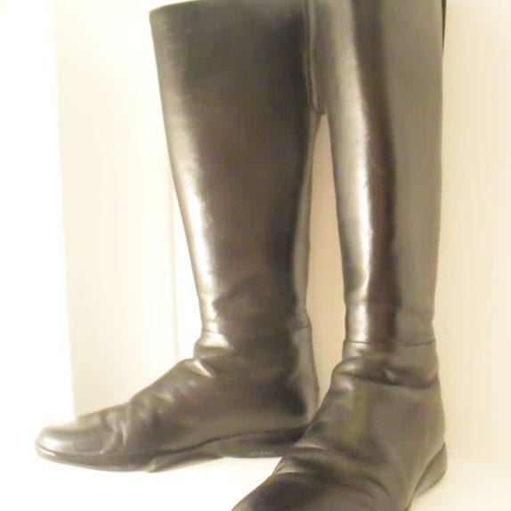 Prada Stiefel schwarz Leder 37