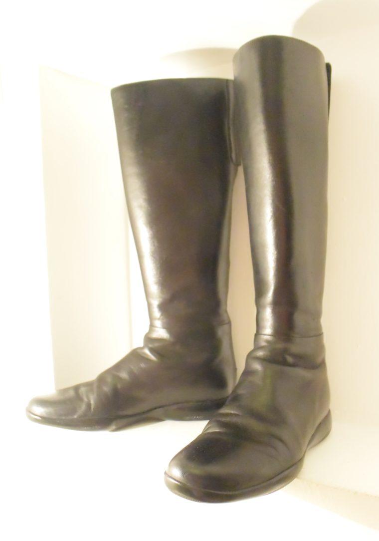 Prada Stiefel schwarz Leder 37-0