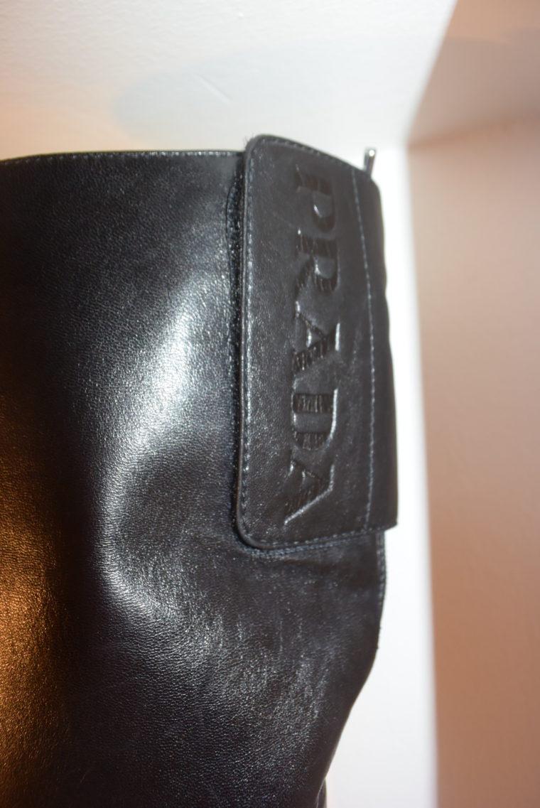 Prada Stiefel schwarz Leder 37-7131