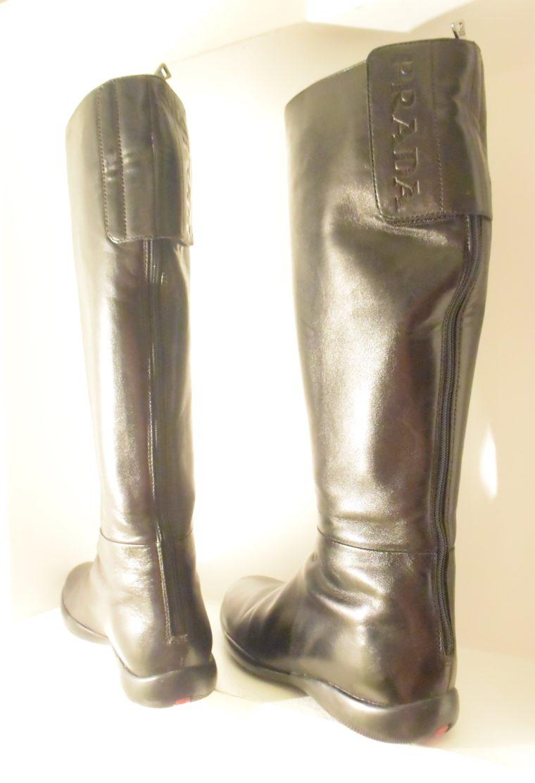 Prada Stiefel schwarz Leder 37-7133