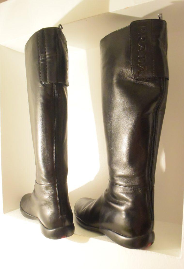 Prada Stiefel schwarz Leder 37-7135