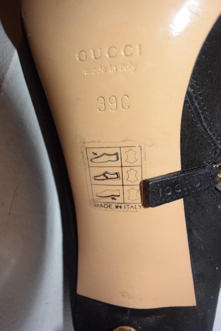 Gucci Stiefletten schwarz Wildleder 39-6958
