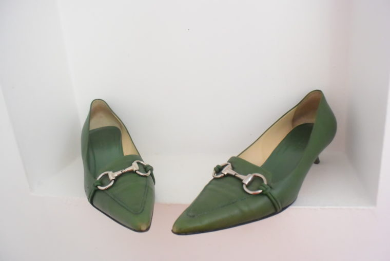 Gucci Schuhe Pumps grün 38 1/2-6960