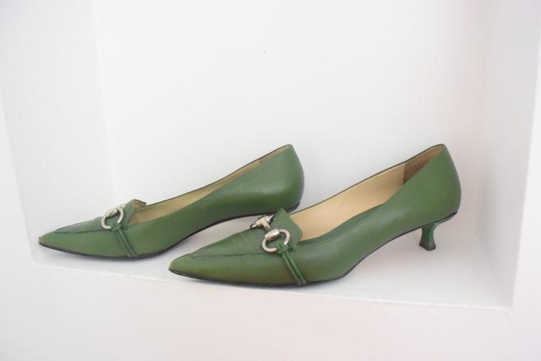 Gucci Schuhe Pumps grün 38 1/2-6966