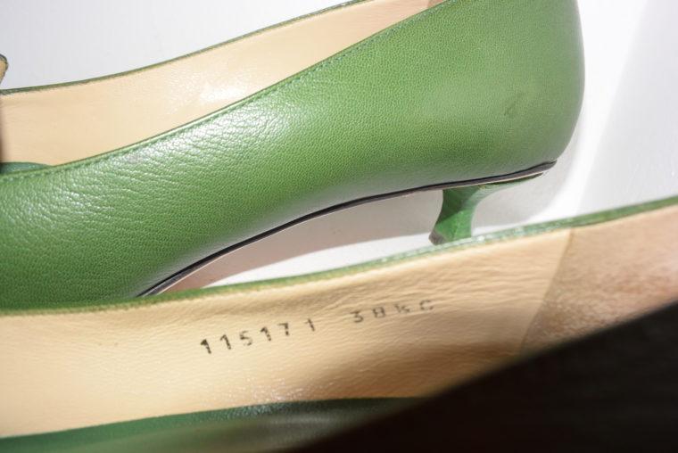 Gucci Schuhe Pumps grün 38 1/2-6963