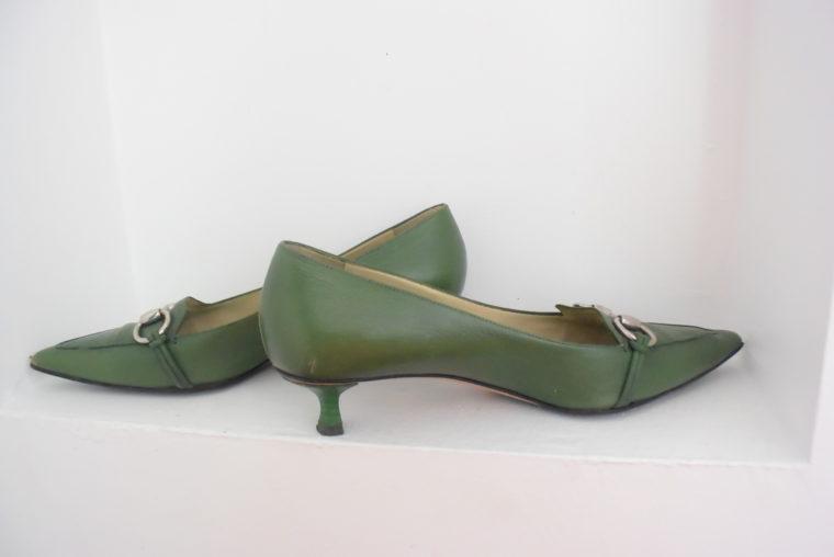 Gucci Schuhe Pumps grün 38 1/2-6959